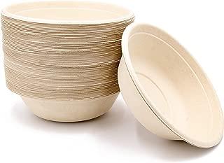32oz Bowls Large Disposable Eco Compostable Chili Soup Paper Plastic Free 75Pk