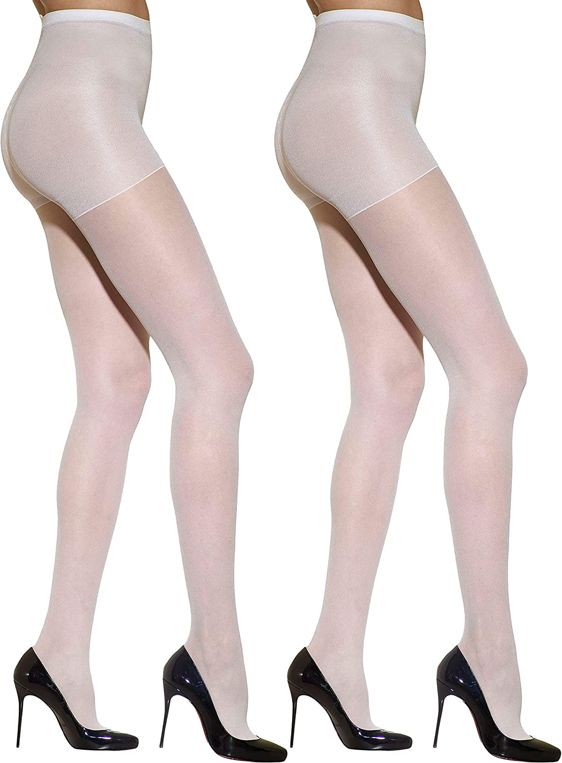 Silkies Women's Control Top Pantyhose with Light Support Legs (2 Pair Pack)