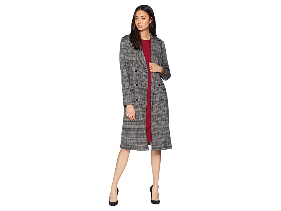 Michael Stars Plaid Ponte Crombie (Plaid) Women's Coat
