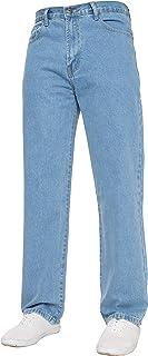 Mens Straight Leg Jeans Basic Heavy Duty Work Denim Trousers Pants All Waist Big Sizes in 4 Colours