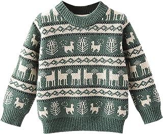 Niños Suéteres Navideños Niñito Bebé Manga Larga Jersey Pullover de Punto Sudadera Prendas de Punto Jumper Suéter de Felpa