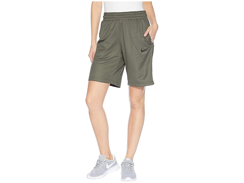 Nike Dry Essential 10 Basketball Short (Cargo Khaki/Cargo Khaki/Black/Black) Women's Shorts