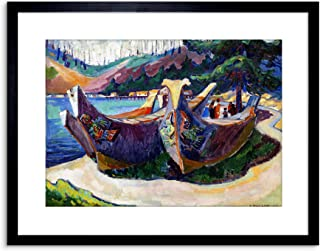 Painting Carr First Nation War Canoes Alert Bay Small Framed Art Print