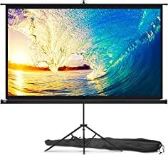 Projector Screen with Stand 84 inch - Indoor and Outdoor Projection Screen for Movie or Office Presentation - 16:9 HD Prem...