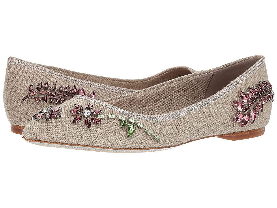 Tory Burch Meadow Embellished Flat (Natural/Multicolor) Women