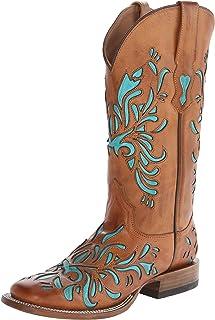 """Stetson Womens 13"""" Burnished Saddle Underlay 13"""" Burnished Saddle Underlay Turquoise Size:"""