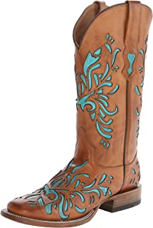 "Stetson Womens 13"" Burnished Saddle Underlay 13"" Burnished Saddle Underlay Turquoise Size:"