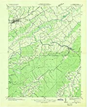 YellowMaps River Knobs VA topo map, 1:48000 Scale, 15 X 15 Minute, Historical, 1935, 26.9 x 22 in