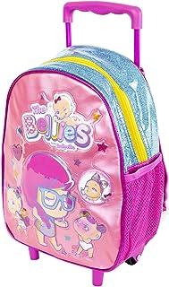 Bellies - Mochila Infantil con Carro y Ruedas para niños a Partir de 3 años, Color Rosa (Famosa 700015957)