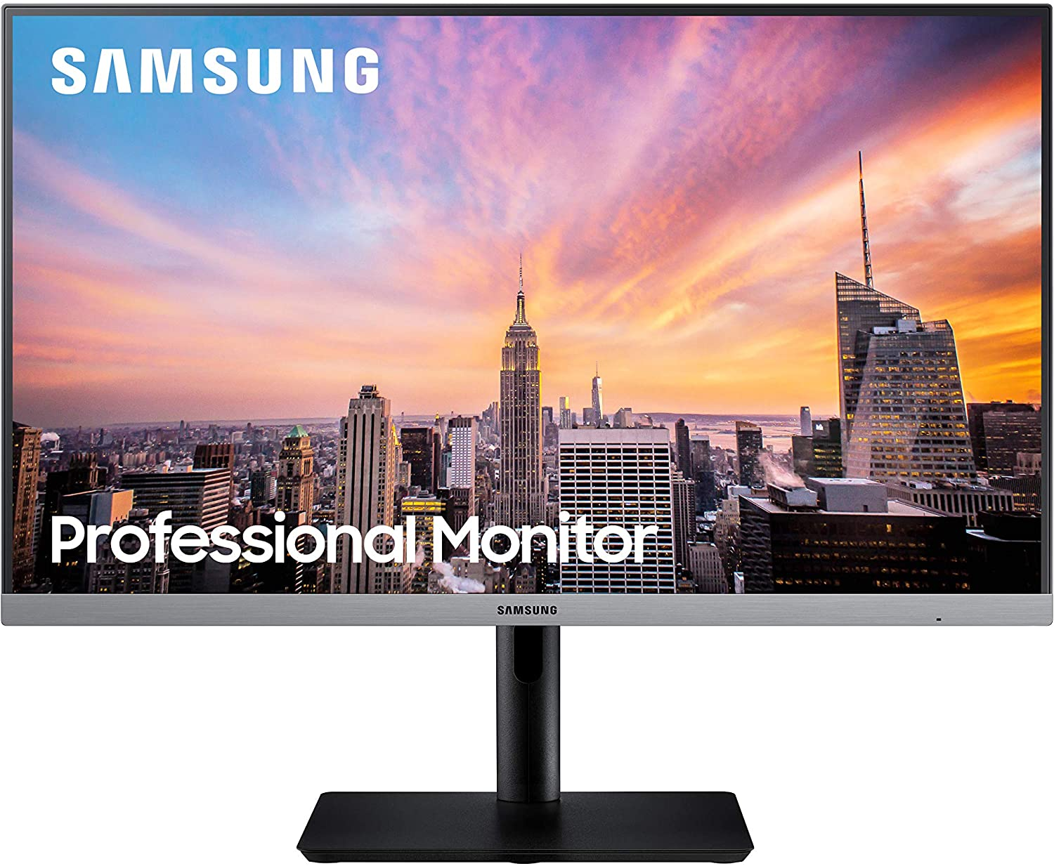 Samsung Business S27R650FDN, SR650 Series 27 inch IPS 1080p 75Hz Computer Monitor for Business with VGA, HDMI, DisplayPort, and USB Hub, 3-Year Warranty