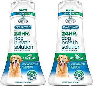 BreathVet Dog Mouthwash Water Additive - Fights Plaque and Tartar - 24HR Bad Dog Breath Solution