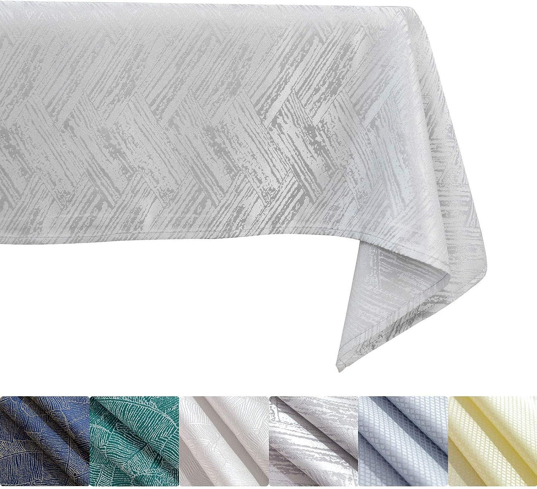 KINLO Mantel de 140 x 220 cm, aspecto de hormigón, efecto loto, impermeable, color gris, protección contra manchas, fácil de limpiar, lavable, repele la suciedad