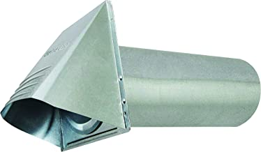 """Deflecto Dryer Vent, Wide Mouth Galvanized Vent Hood, 4"""", Silver (GVH4NR)"""