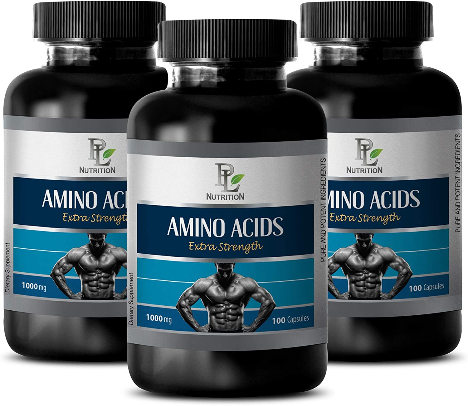 Muscle Mass Builder for Men Oakland Mall - unisex Extra Amino 1000MG ACIDS Strength