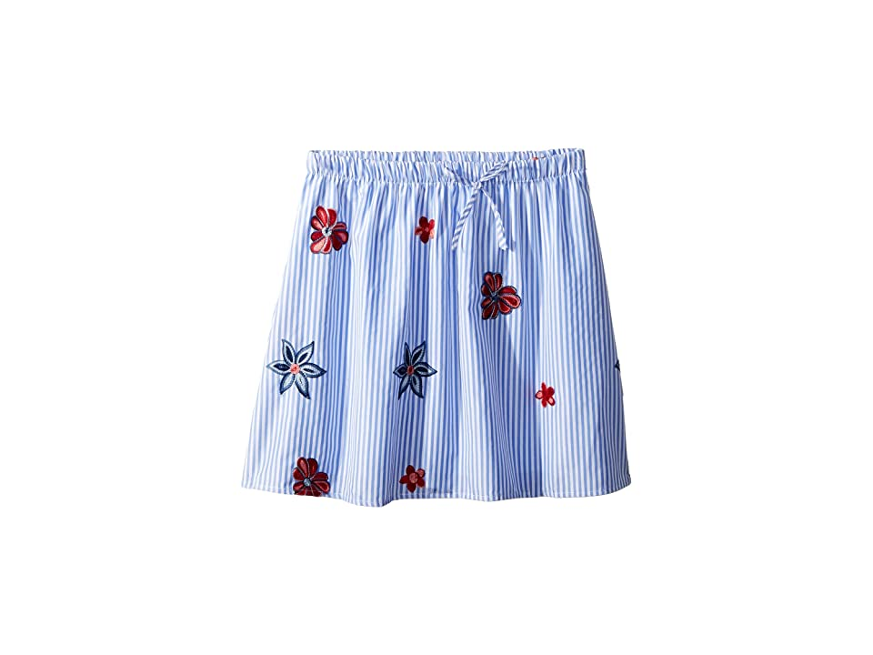 People's Project LA Kids Sandy Woven Skirt (Big Kids) (Navy) Girl's Skirt