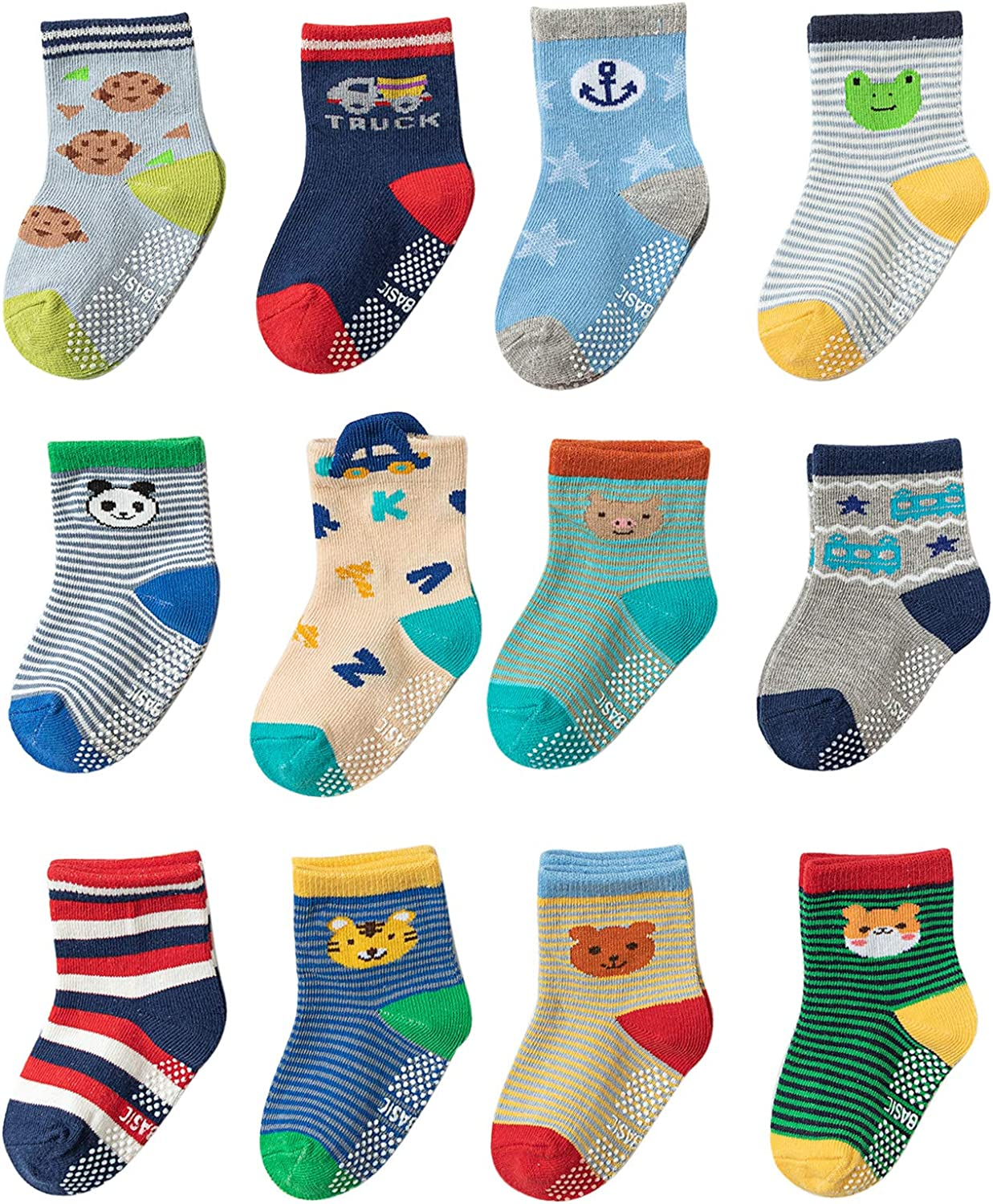 WOFTAM Baby Crew Socks Non Slip Grip Max 69% OFF S Ankle Skid New popularity With