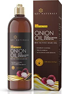 Rey Naturals Nourishing Hair Fall Treatment With Real Onion Extract Hair Oil For Unisex, 200ml