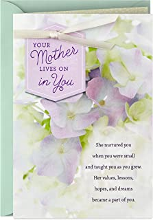 Hallmark Sympathy Card for Loss of Mom (Your Mother Lives On in You)