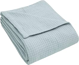 Elite Home Products Inc. Grand Hotel Cotton Blanket, Seaglass, Full Queen