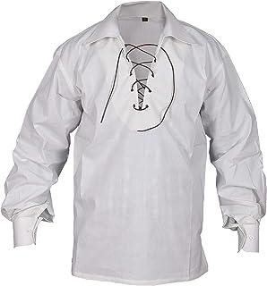 Off White(Cream) Jecobite Traditional Ghillie Kilt Shirt