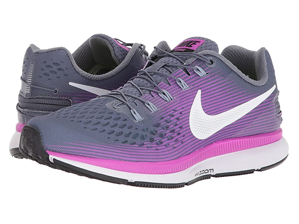 Nike Air Zoom Pegasus 34 FlyEase (Light Carbon/White/Hyper Violet) Women