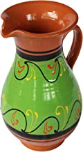 Cactus Canyon Ceramics Spanish Terracotta 2 Quart Pitcher, Green