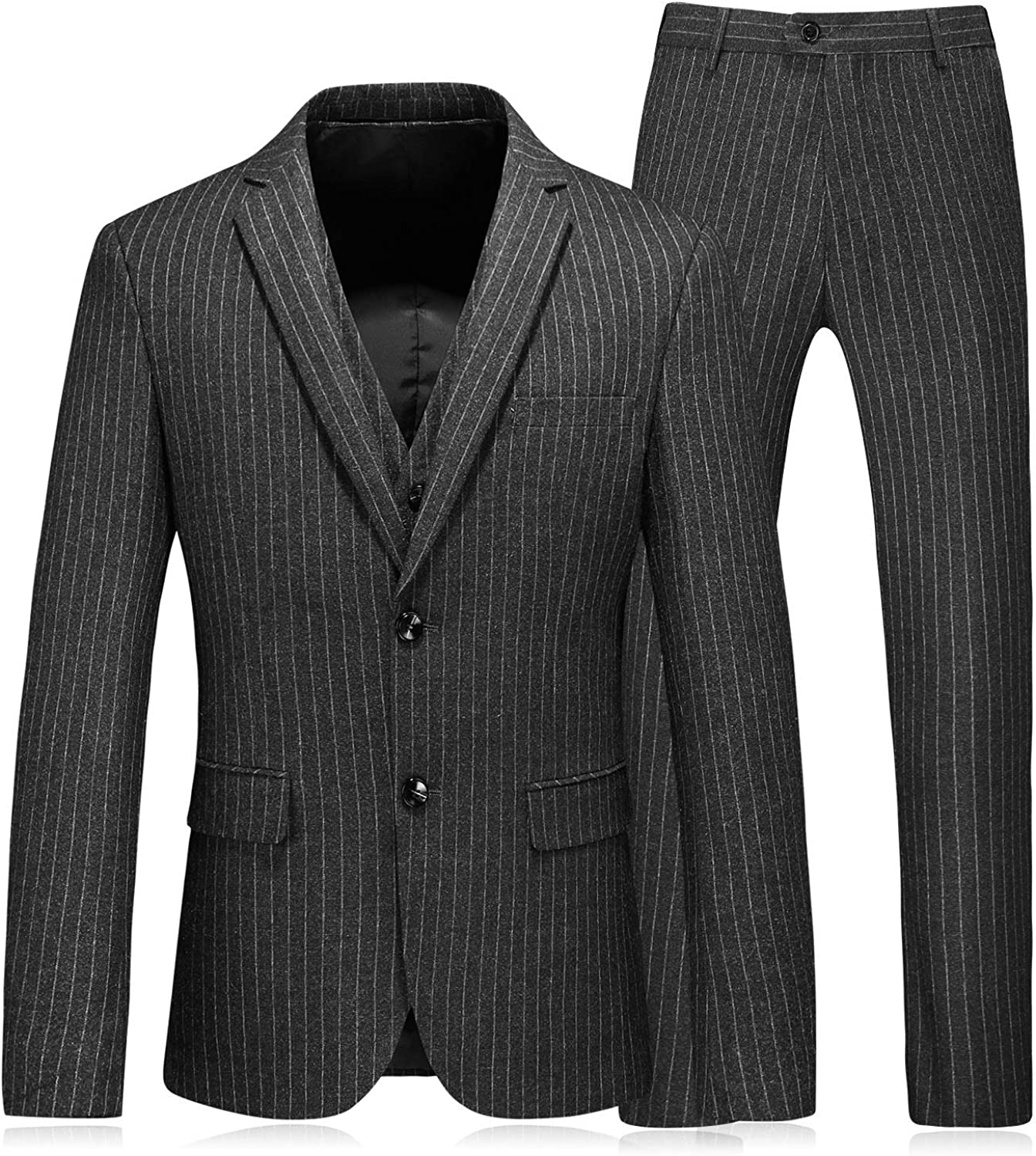 PG Direct stock discount Men's Choice One Button Pinstripe Pieces Busines Suit Three Wedding