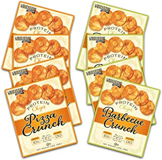 High Protein Chips, 10g Protein, Gluten Free, Low Carbs - Barbecue and Pizza Flavor (8 Pack Assortment)