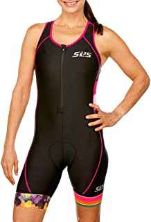 SLS3 Womens Triathlon Suit FX - Tri Suit Women - Triathlon Suit for Women - 1 Pocket Women's Tri Suit - Anti-Friction Seams Womens Tri Suit - Slim Athletic Fit (No Shelf Bra)