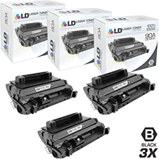 LD Compatible Toner Cartridge Replacement for HP 90A CE390A (Black, 3-Pack)