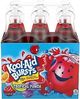 Kool-Aid Bursts Tropical Punch Juice Bottles (6.75 oz Bottles, 6 Count)