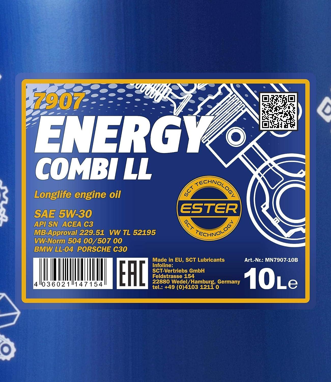 Mannol Energy Combi Ll 5w 30 Api Sn Cf Motorenöl 4 Liter Auto
