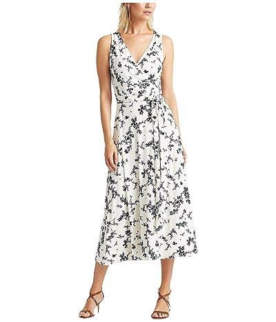 LAUREN Ralph Lauren Carana Dress (Colonial Cream/Blue/Multi) Women