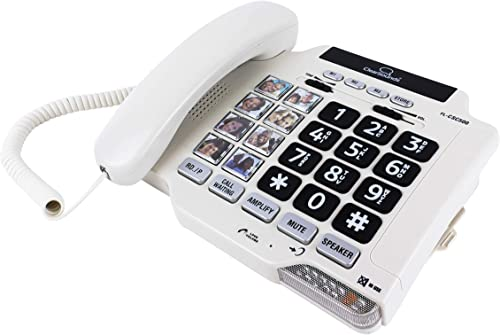 high quality ClearSounds CSC500 Amplified Landline Phone with Speakerphone and Photo Frame Buttons - 2021 Up to 30dB Amplification, T-Coil outlet online sale Hearing Aid Compatible outlet sale