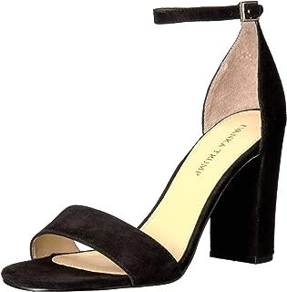 Ivanka Trump Women's Klover Heeled Sandal, Black Suede, 10 Medium US