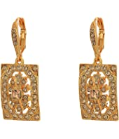 Oscar de la Renta - Multi Crystal Square P Earrings