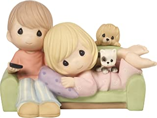 Precious Moments 172005 You're My Favorite Place To Be Couple Together on Couch Bisque Porcelain Figurine