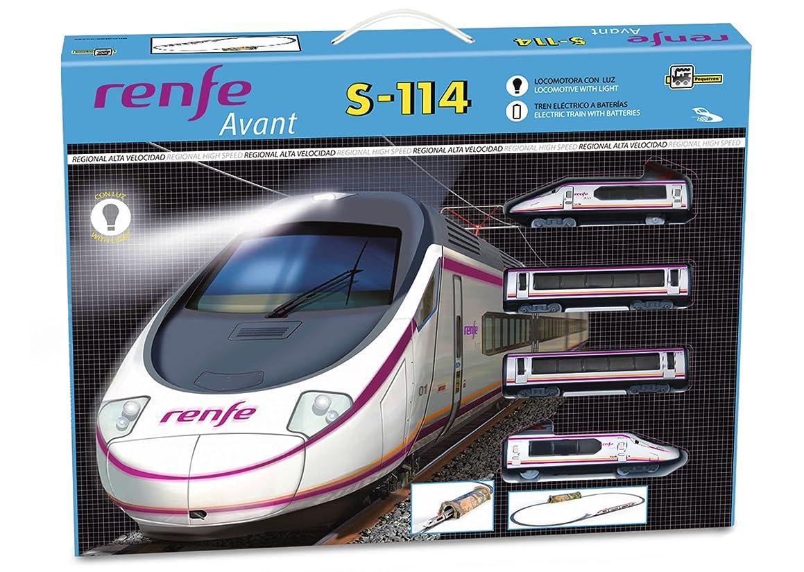PEQUETREN Pequetren700 High Speed Renfe Avant S-114 Model Train  with Mountain Tunnel