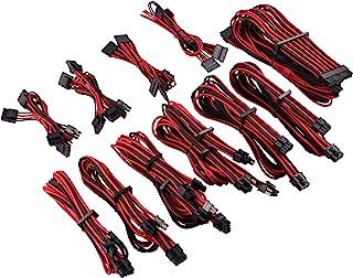 Corsair Premium Sleeved Netzteil Pro Kabel Set Typ4 (Generation 4 Serie) Rot/Schwarz