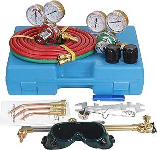 Professional Welder Oxygen Acetylene Oxy Gas Welding Cutting Kit Shop, Portable Weld Torch Brazing Fits Regulator