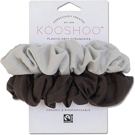 100/% Organic Cotton Hair Scrunchie Grey Chevron