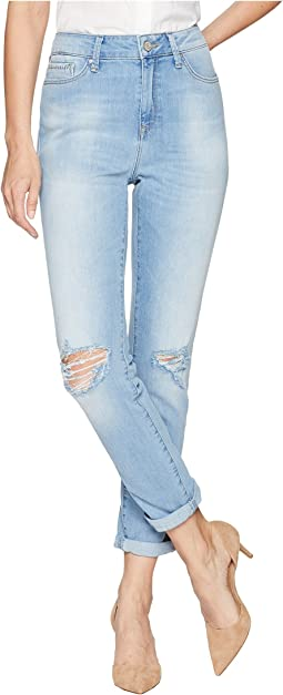 Mavi Jeans Lea High-Rise Boyfriend in Light Ripped Vintage