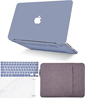 """KECC Laptop Case for MacBook Pro 13"""" (2020/2019/2018/2017/2016, Touch Bar) w/Keyboard Cover + Sleeve + Screen Protector (4 in 1 Bundle) Hard Shell A2159/A1989/A1706/A1708 (Lavender Grey)"""
