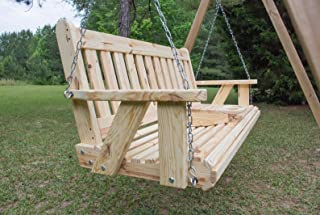 Ecommersify Inc Portable Cup Holder ROLLED seating Amish Heavy Duty 800 Lb 5ft. Porch Swing - Made in USA