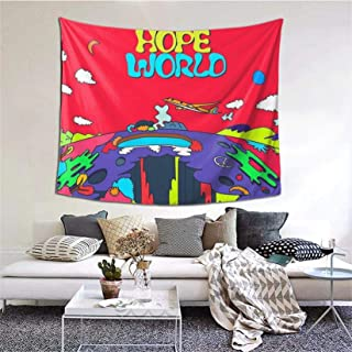 Gyaiaer J-Hope Hope World Album Art Tapestry Boutique Wall Hanging Tapestry Vintage Tapestry Wall Tapestry Micro Fiber Pea...
