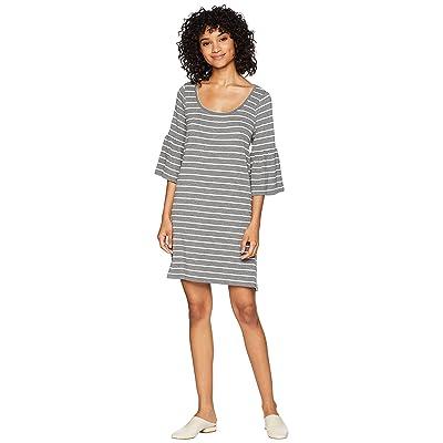 BB Dakota Shades Of Cool Striped Dress (Medium Heather Grey) Women