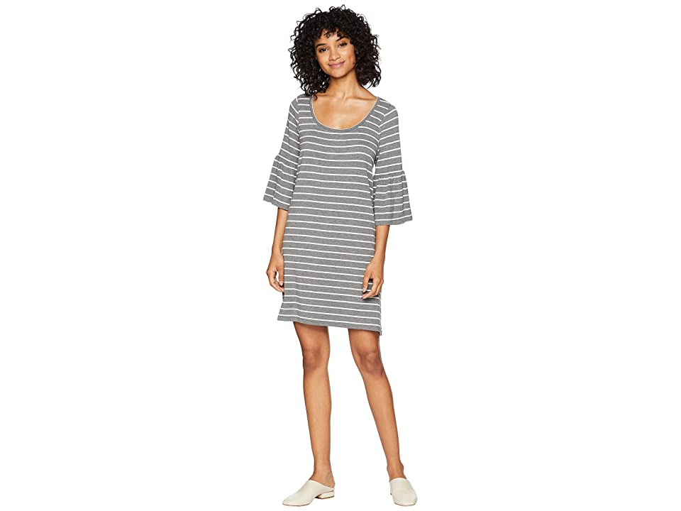 BB Dakota Shades Of Cool Striped Dress (Medium Heather Grey) Women