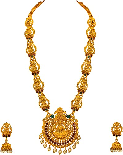 Gold Plated Jewellery Set For Women Copper AGLK73