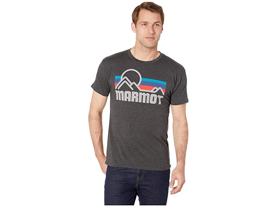 Marmot Short Sleeve Coastal Tee (Charcoal Heather) Men