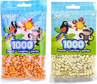 Perler Bead Bag 1000, Bundle of Butterscotch and Creme (2 Pack)